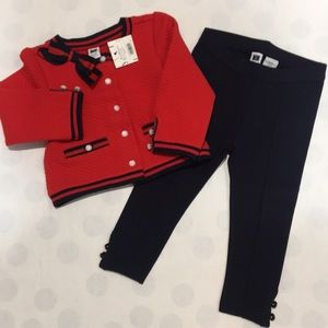 Janie and Jack leggings/jacket set
